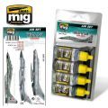 MIG & SU COLORS GREY & GREEN JETS   AIR SET   7204