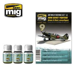 WWII SOVIET FIGHTERS/GREEN & BLACK CAMO    AWS7422