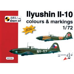 ILYUSHIN IL-10 COLOURS AND MARKINGS + DECALS 1/72
