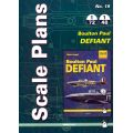 BOULTON PAUL DEFIANT       SCALE PLANS 1/72 & 1/48